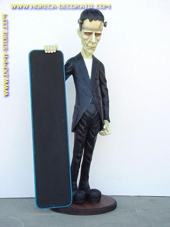 Frankenstein mit Angebotstafel: Höhe: 1,80 meter