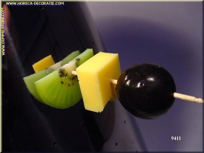 Spies met druif, kaas, kiwi - namaak