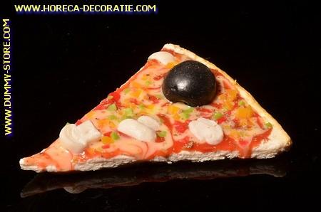Pizza, punt, Champignon en Olijven