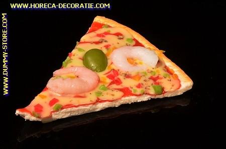 Pizza, punt, Garnalen en Olijven - namaak