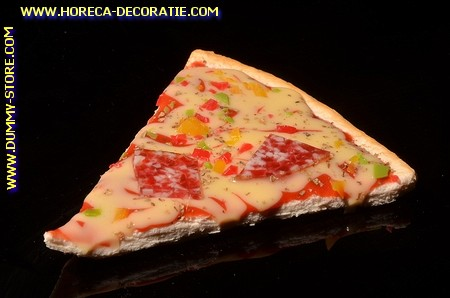Pizza, punt, Salami en Kaas - Attrappe