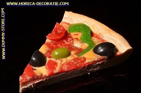 Pizza, punt, Salami en Kaas Olijven GROOT - dummy