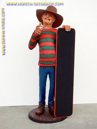 Freddy Kruger with chalkboard,  h: 1,74 Meter