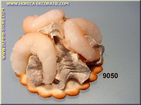 Toast met garnalen - dummy