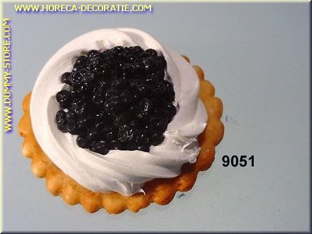 Toast met zwarte Kaviaar - namaak
