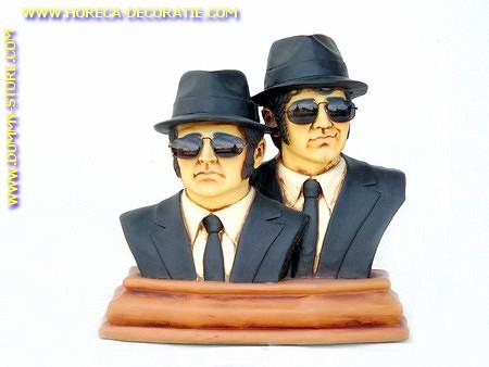 Blues Brothers borstbeeld, hoogte: 0,53 meter