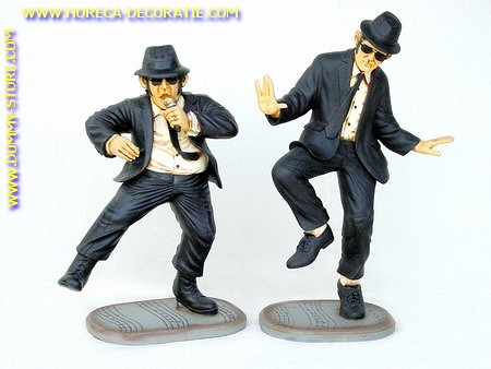 Blues Brothers (2 pcs), h: 1,10 meter