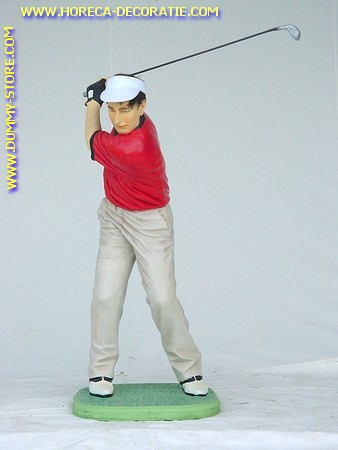 Golfer putting,:1,06 meter