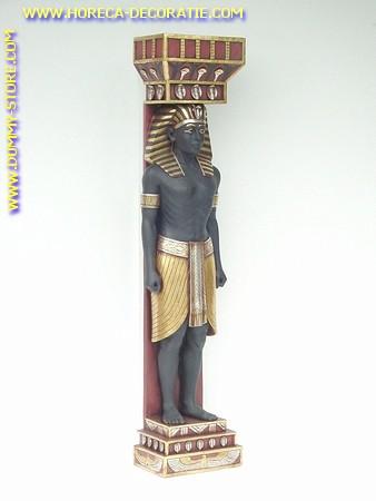 Egyptische pilaar Man, hoogte: 2,00 meter