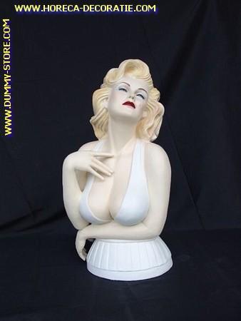 Marilyn Monroe borstbeeld, hoogte: 0,55 meter