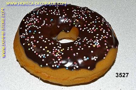 Donut donkerbruin met spikkels - namaak