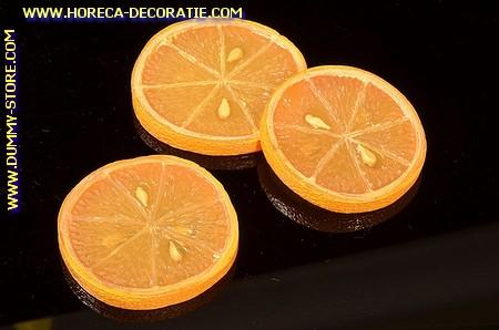 Sinaasappel schijven, 3 stuks - Ø 60 mm - Fruitdummy
