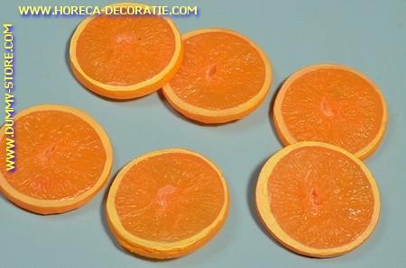 Sinaasappel schijven LUXE , 6 stuks - Ø 60 mm - Fruitdummy