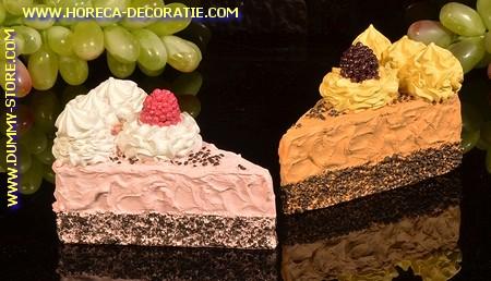 Cake (dummy)  PINK + BROWN 2 pcs
