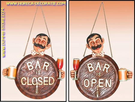 Bar Open-Close sign (2 sided) 30x30 cm