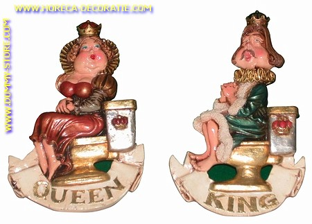 King & Queen toilet signs (set van twee)