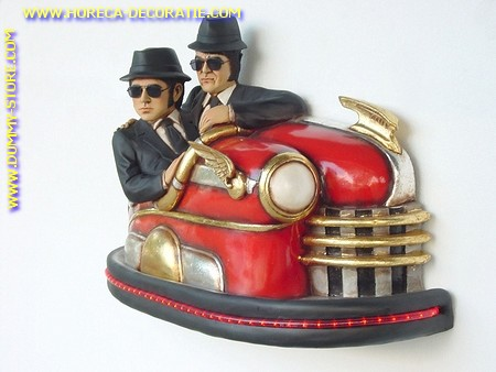 Blues Brothers in Autoskooter, h: 0,73 meter