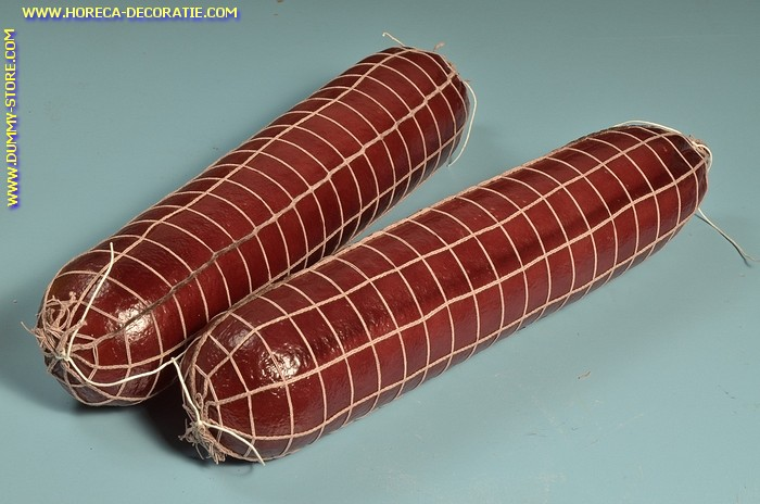 Salami in net, 2 stuks (B4) - 90x400 mm - dummy