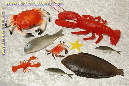 Zeedieren assortiment 2 - 9 stuks dummy vis