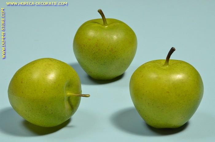 Groene Appels, medium, 3 stuks (decoratie)