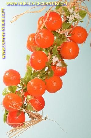 Sinaasappels, grote streng, 20 stuks (decoratie) L: 50 cm