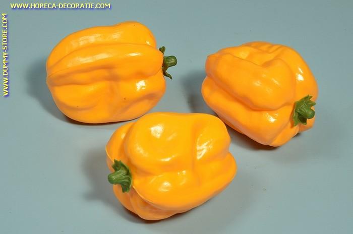 Paprika, Gelb, 3 Stück - Attrappe
