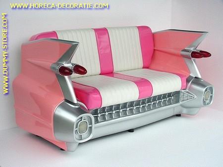 Cadillac Car Sofa, Pink