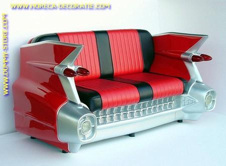 Cadillac Car Sofa, Red