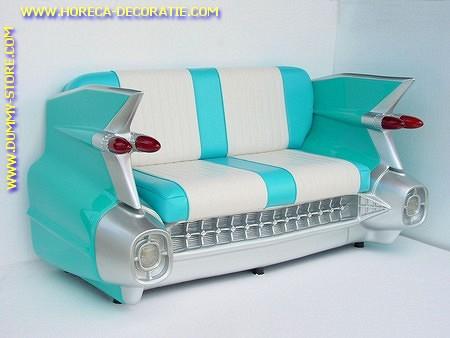 Cadillac Auto Sofa, Turqoise 2