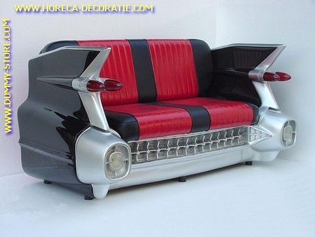 Cadillac Car Sofa, Black
