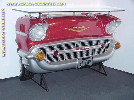 Chevrolet wand (bar) tafel, rood