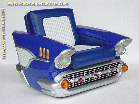 Chevrolet Chair, blue (without foot-stool)
