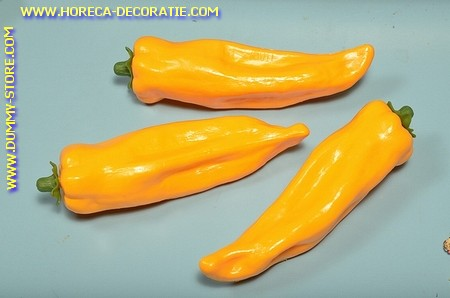 Peper, geel, 3 stuks (namaak)