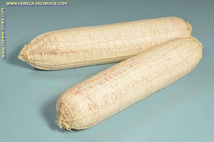 Witte salami in net, 2 stuks (W4) - 90x400 mm - dummy