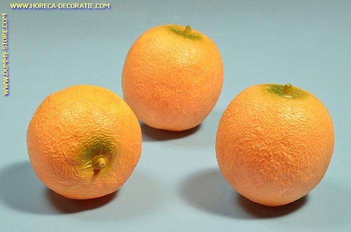 Meloenen, geel, 3 stuks (decoratie) Ø 110 mm