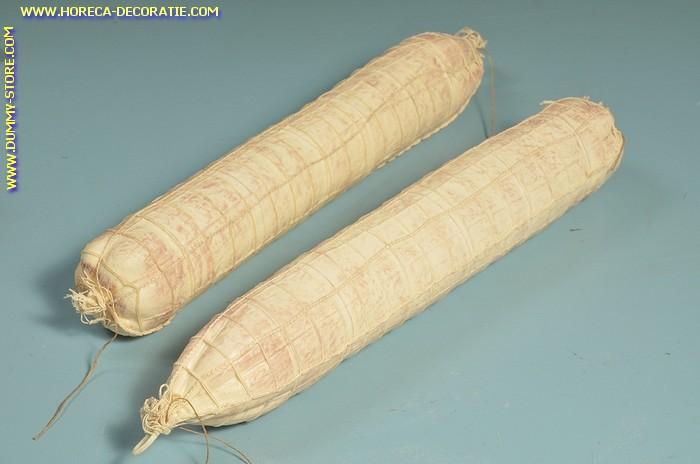 Salami, wit, 2 stuks (W3) -65x450 mm - dummy