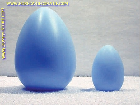Egg, BLUE, H: 17 cm, 12 pcs.
