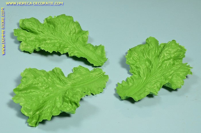 Sla blad GROEN, 3 stuks (namaak)   18x12 cm
