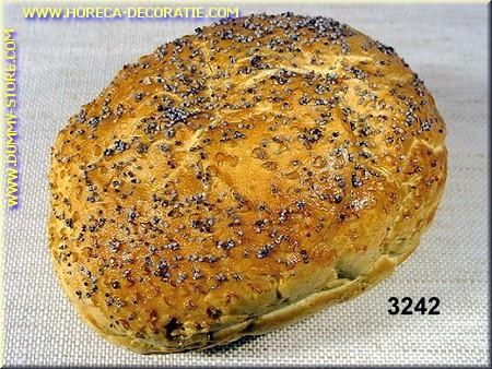 Broodje met maanzaad - namaak - dummy