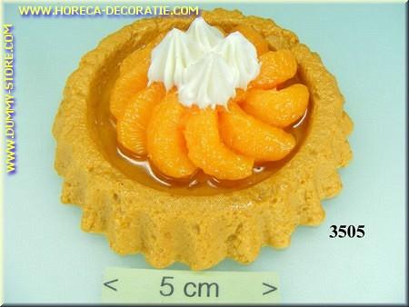 Cake Perzik met slagroom - Attrappe