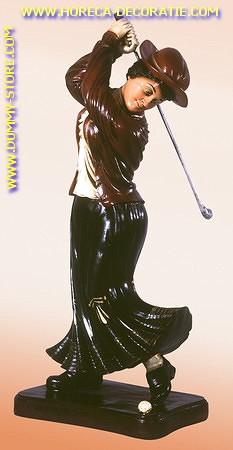 Dames golfer aan slag, 0,71 meter