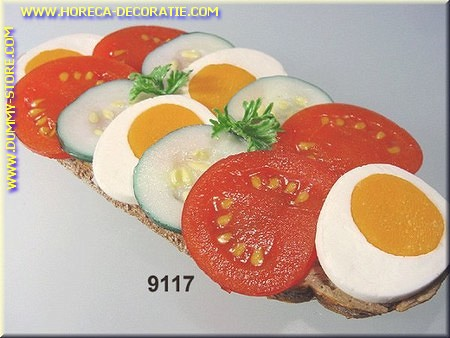decorated sandwich