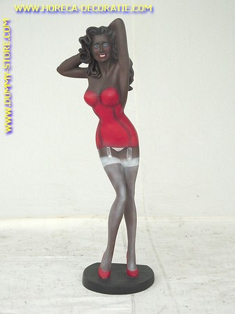 Sexy lady in red dress, 1.00 meter