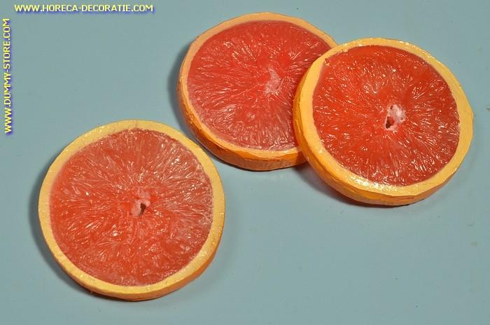 Rote Apfelsine Scheiben (3) - Attrappe