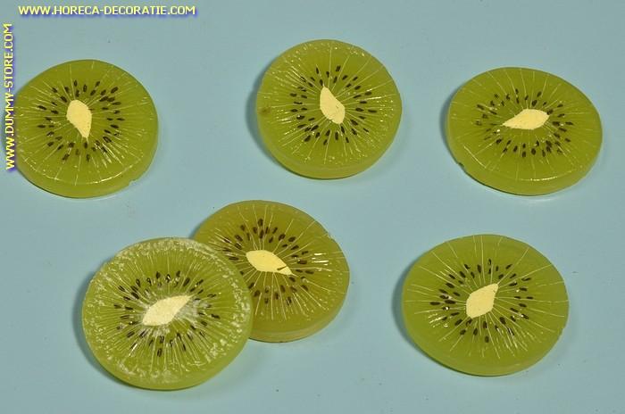 Kiwi schijven, 6 stuks - Ø 40 mm - Fruitdummy