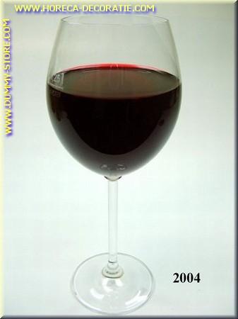 Glas Rode Wijn in glas met lange voet - dummy