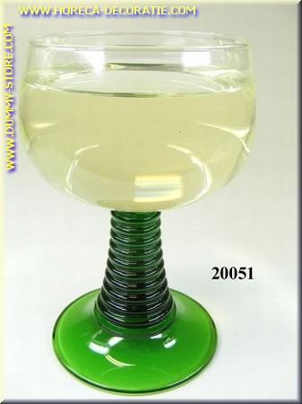 Glas Witte wijn in laag glas - Attrappe