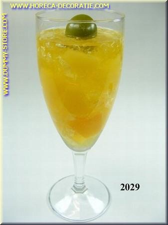 Glas Ananas sekt met olijf - Attrappe