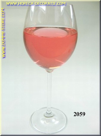 Glas Rosé wijn - Attrappe