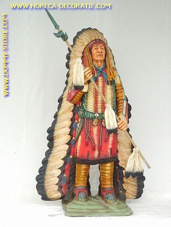 Indianerhäuptling, Höhe: 2,00 Meter